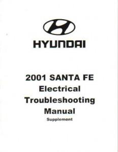 2001 Hyundai Santa Fe Electrical Troubleshooting Manual