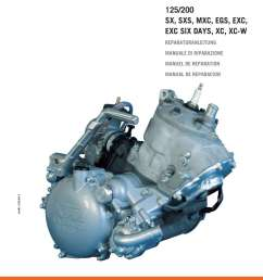1999 2006 ktm 125 200 two stroke motorcycle engine printed service manual [ 1024 x 1449 Pixel ]