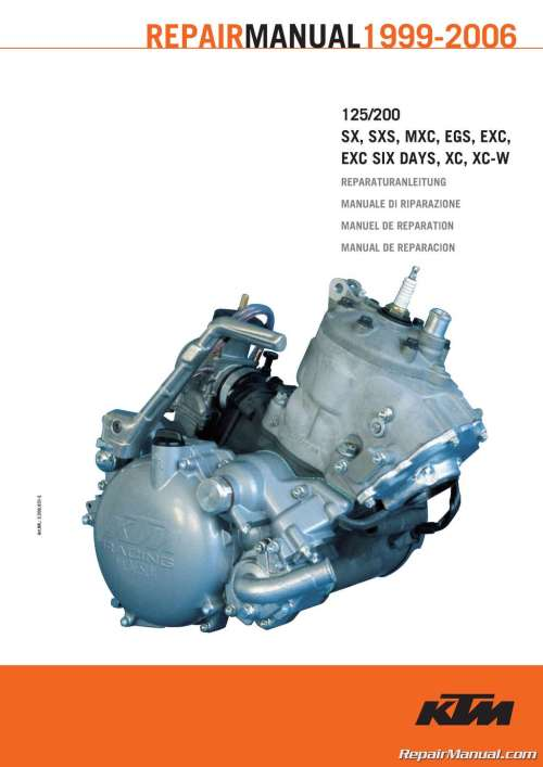 small resolution of 1999 2006 ktm 125 200 two stroke motorcycle engine printed service manual