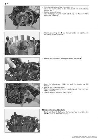 1999 2006 KTM 125 200 Two Stroke Motorcycle Engine Printed