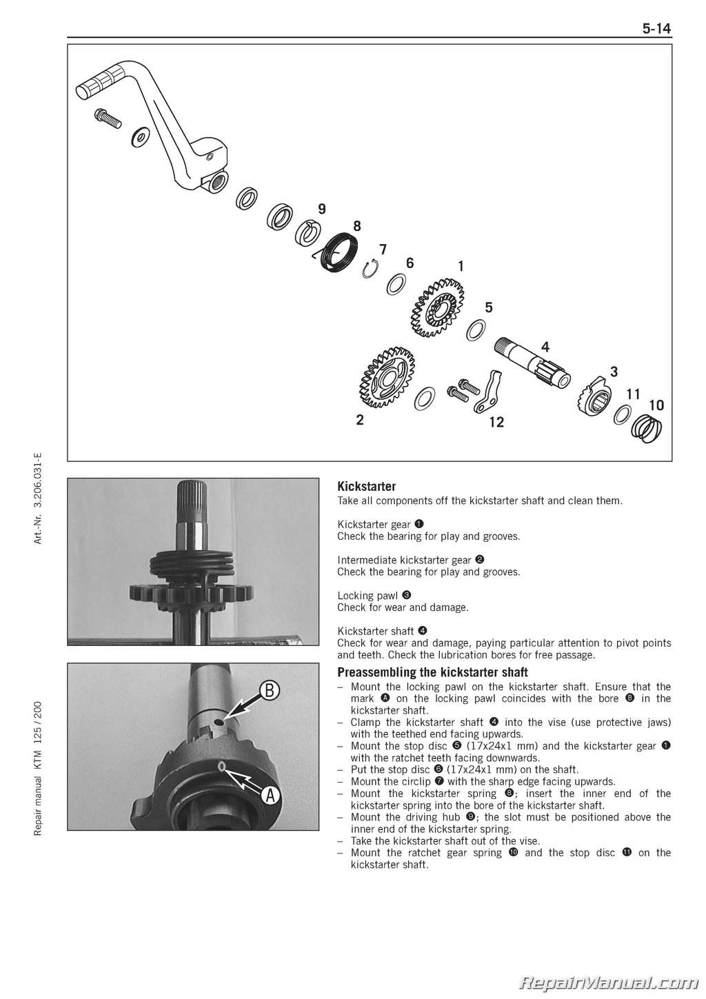 hight resolution of 1999 2006 ktm 125 200 two stroke motorcycle engine printed service manual