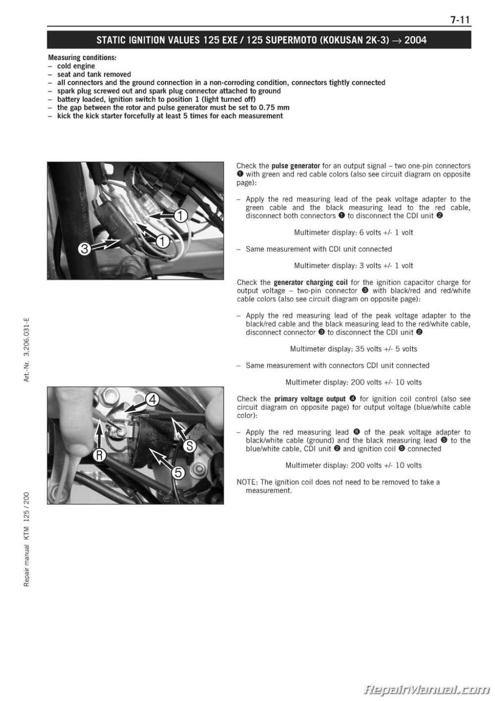 medium resolution of 1999 2006 ktm 125 200 two stroke engine service manual