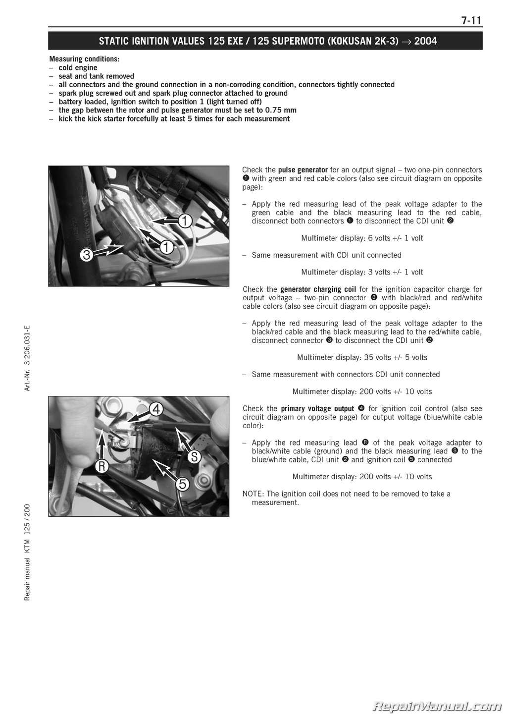 hight resolution of 1999 2006 ktm 125 200 two stroke engine service manual