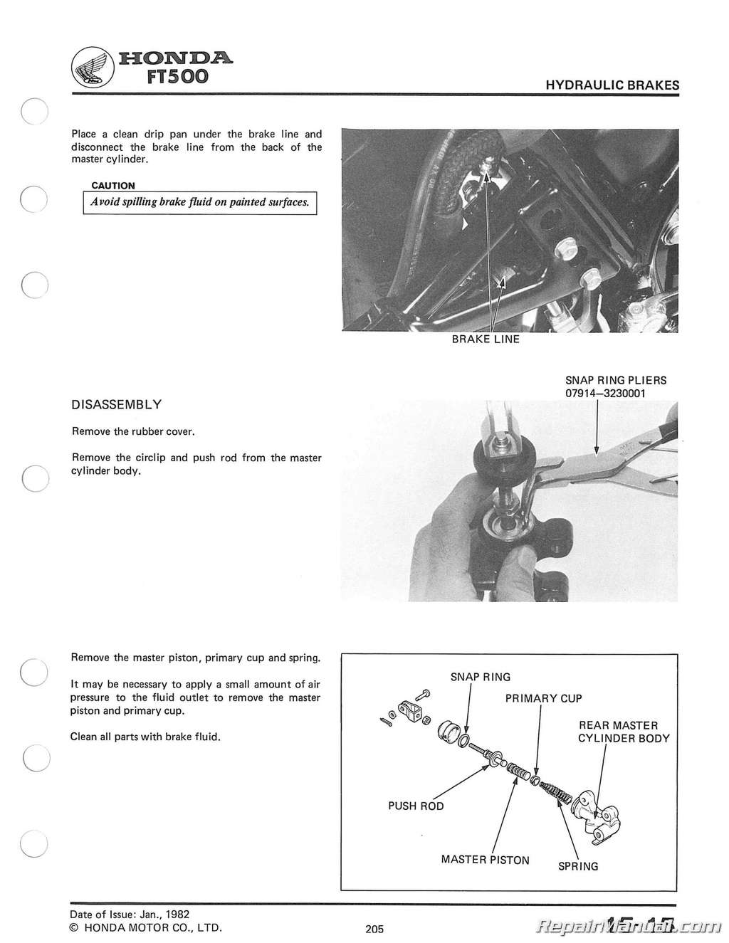 hight resolution of 1982 1983 honda ft500 ascot service manual