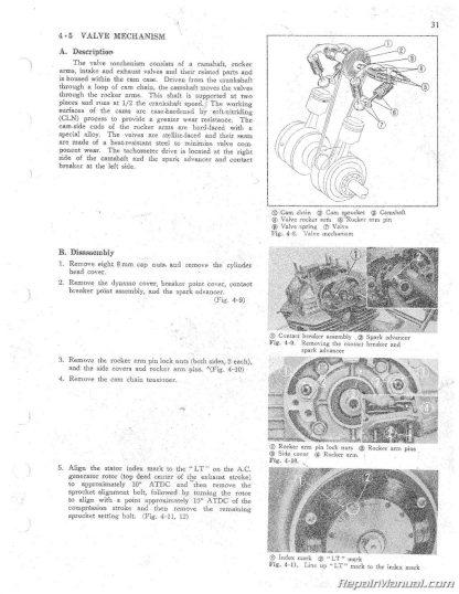 1968-1973 Honda CB CL 250 CB CL SL350 Motorcycle Shop Manual