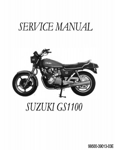 Suzuki GS 1100 Motorcycle Repair Manual 1979 1980 1981