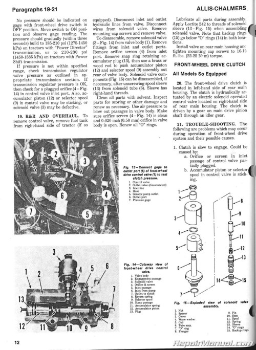 small resolution of allis chalmers 180 wiring diagram semi truck plug wiring