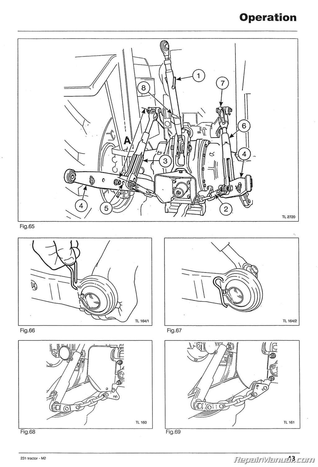 massey ferguson 165 parts diagram corsa d headlight wiring 231 tractor operator instruction book