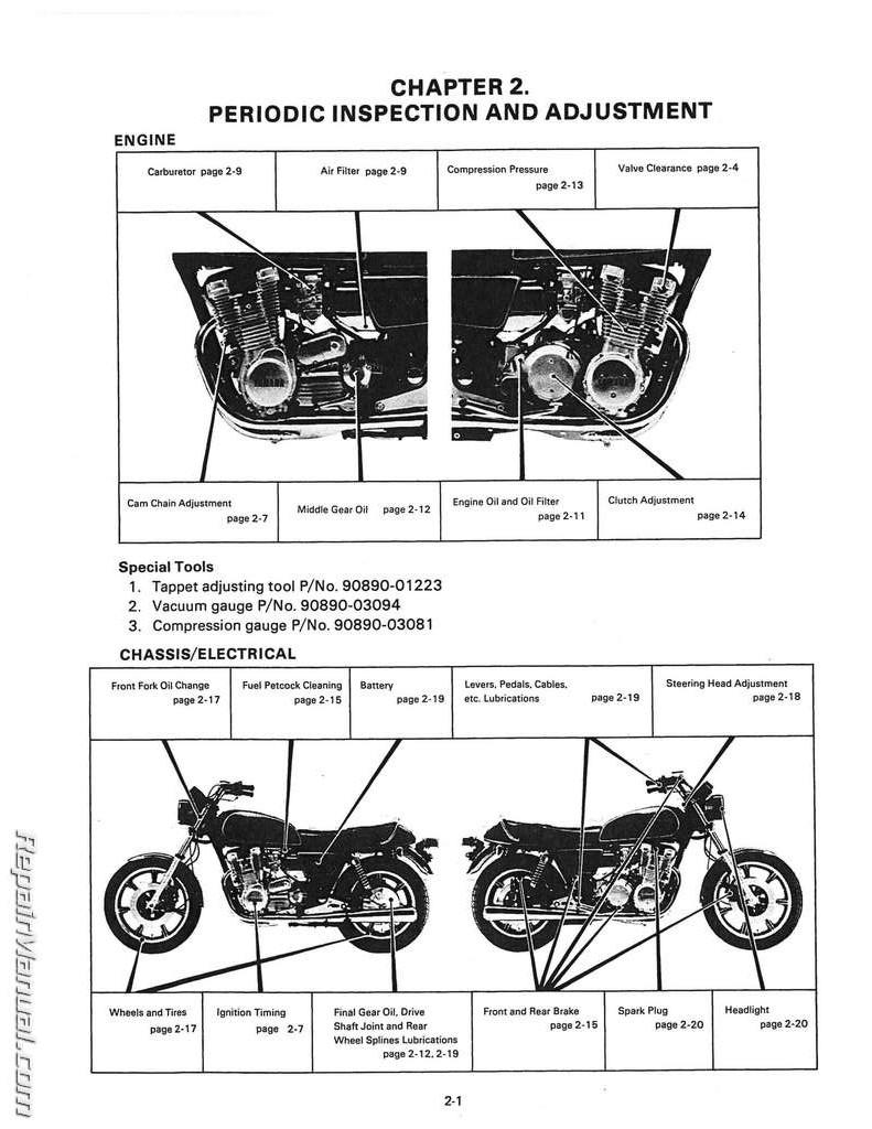 medium resolution of 1978 1980 yamaha xs1100 service manual