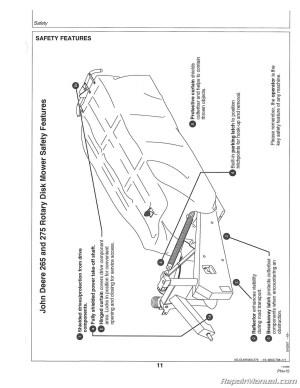 John Deere 265 275 Rotary Disk Mowers Operators Manual