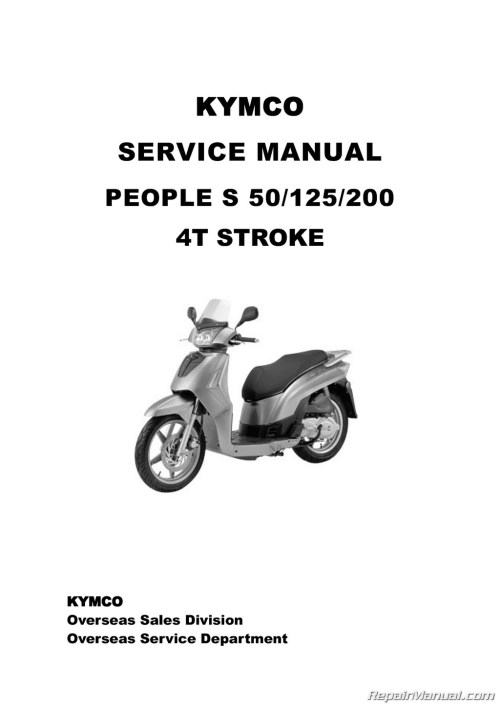 small resolution of kymco people s scooter service manual