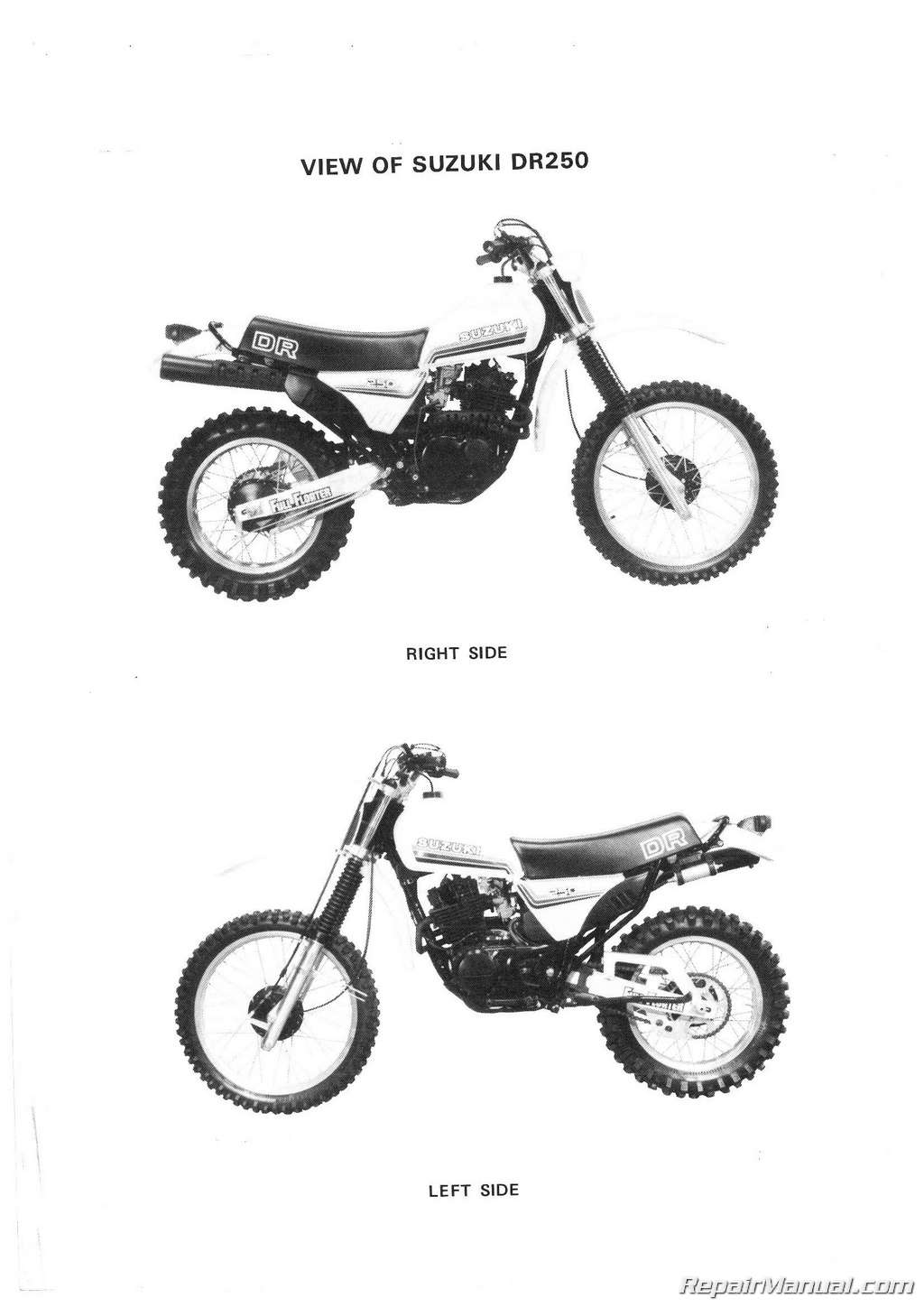 Suzuki Dr250 Sp250 Motorcycle Service Manual