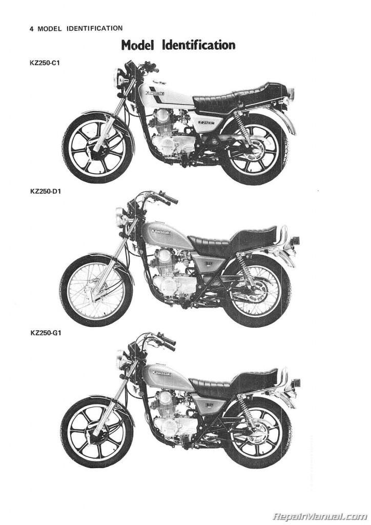 1980-1983 Kawasaki KZ250 Motorcycle Repair Service Manual