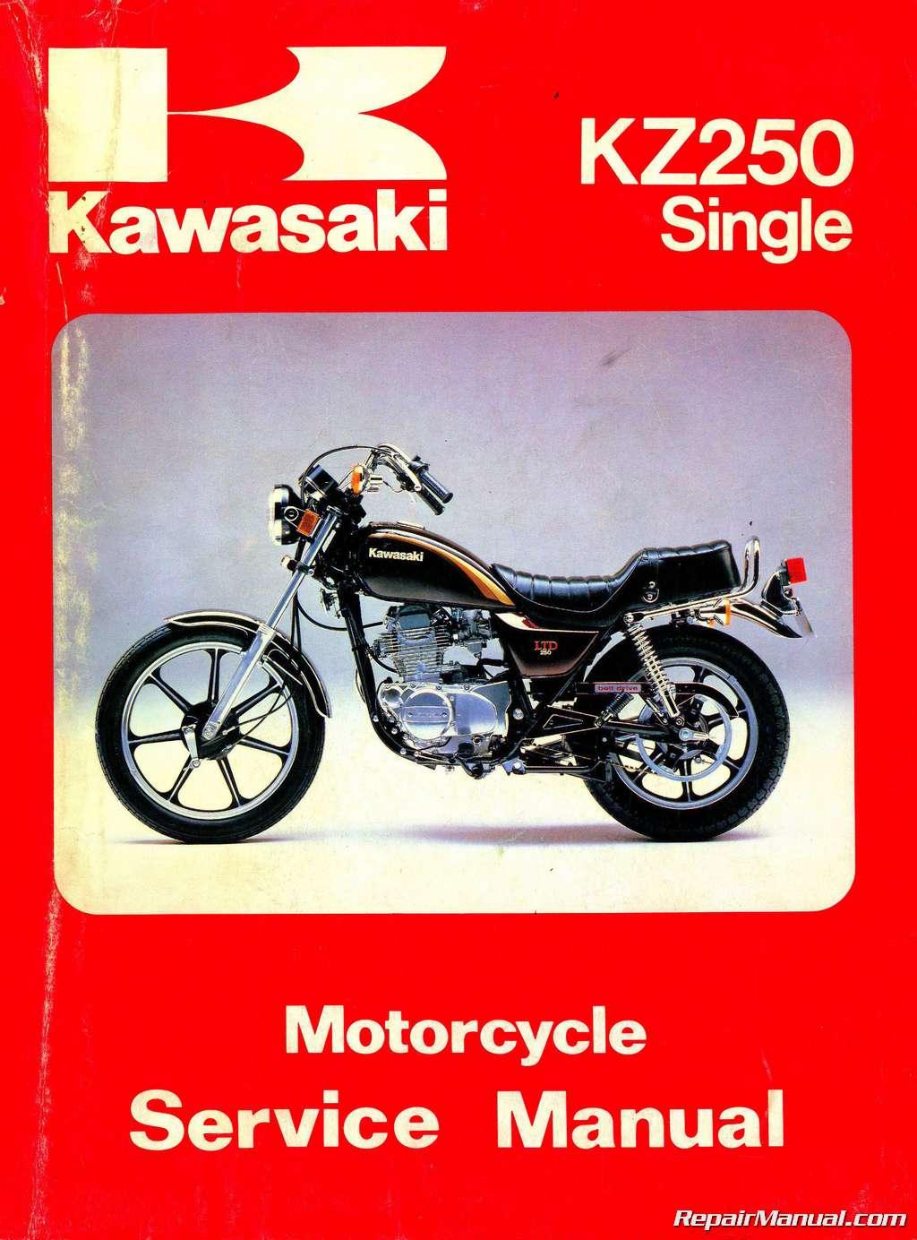 hight resolution of 1980 1983 kawasaki kz250 motorcycle repair service manual kawasaki 250 ltd wiring diagram