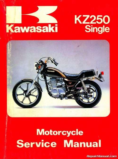 small resolution of 1980 1983 kawasaki kz250 motorcycle repair service manual kawasaki 250 ltd wiring diagram