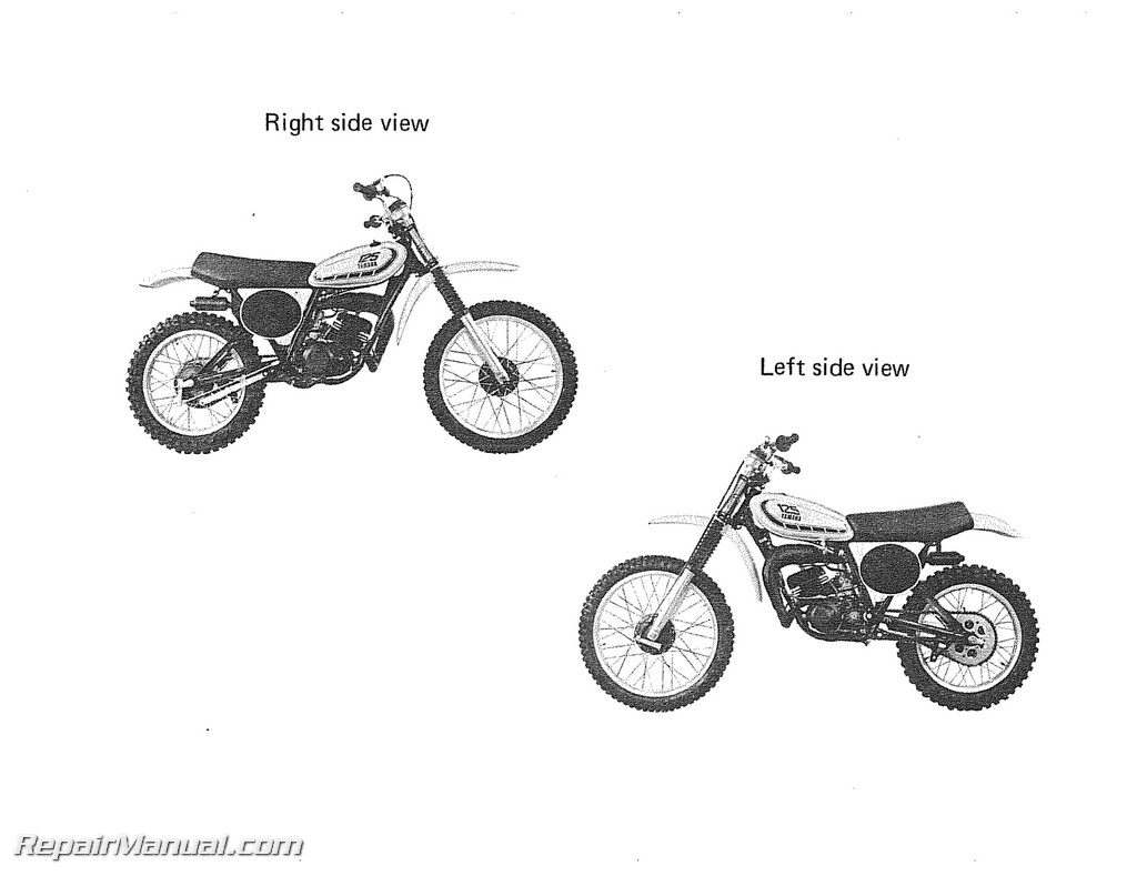 1976 Yamaha YZ125X Motorcycle Owners Service Manual