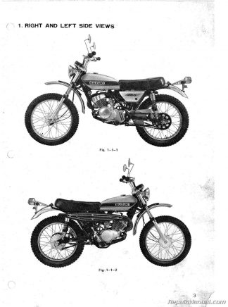 1980-1983 Kawasaki KZ250 Motorcycle Repair Service Manual