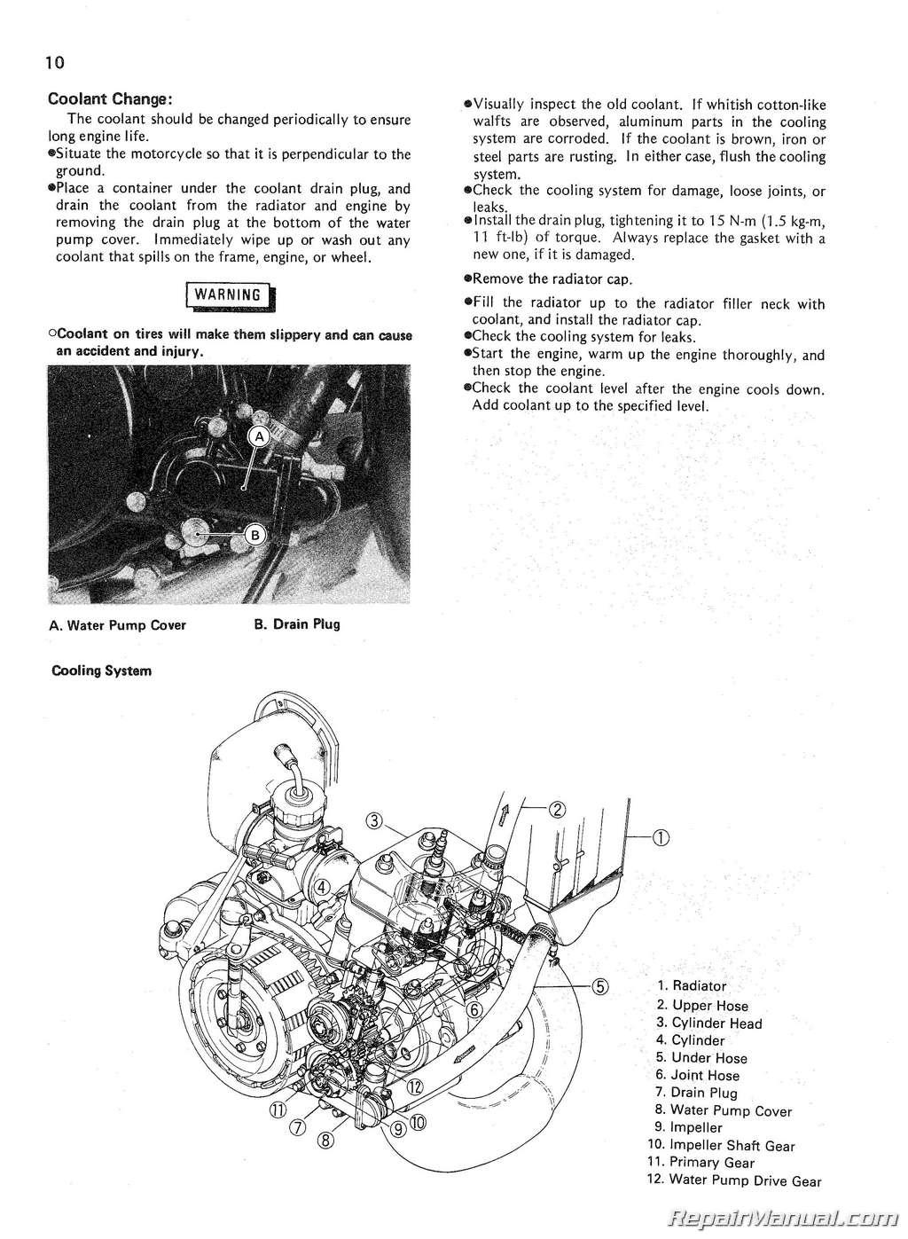 1985 Kawasaki KX125D1 Service Manual