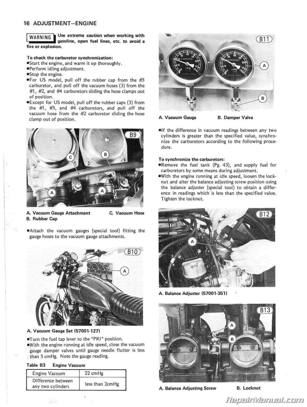 medium resolution of 1980 1983 kawasaki kz750 motorcycle service manual 1982 wiring diagram for kawasaki k z ltd 750 kz750 four wiring diagram