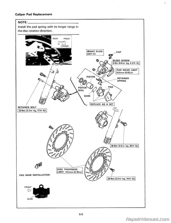 1984 Yamaha Rz350 Service Repair Maintenance Manuals