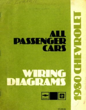Used 1980 Chevrolet All Passenger Cars Wiring Diagram Manual