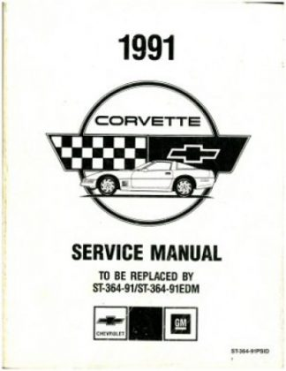 USED 1991 Chevrolet Corvette Preliminary Service Manual