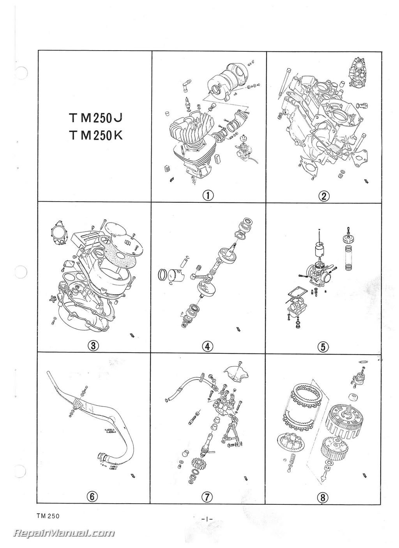 1973 Suzuki TM250 Motorcycle Parts Manual