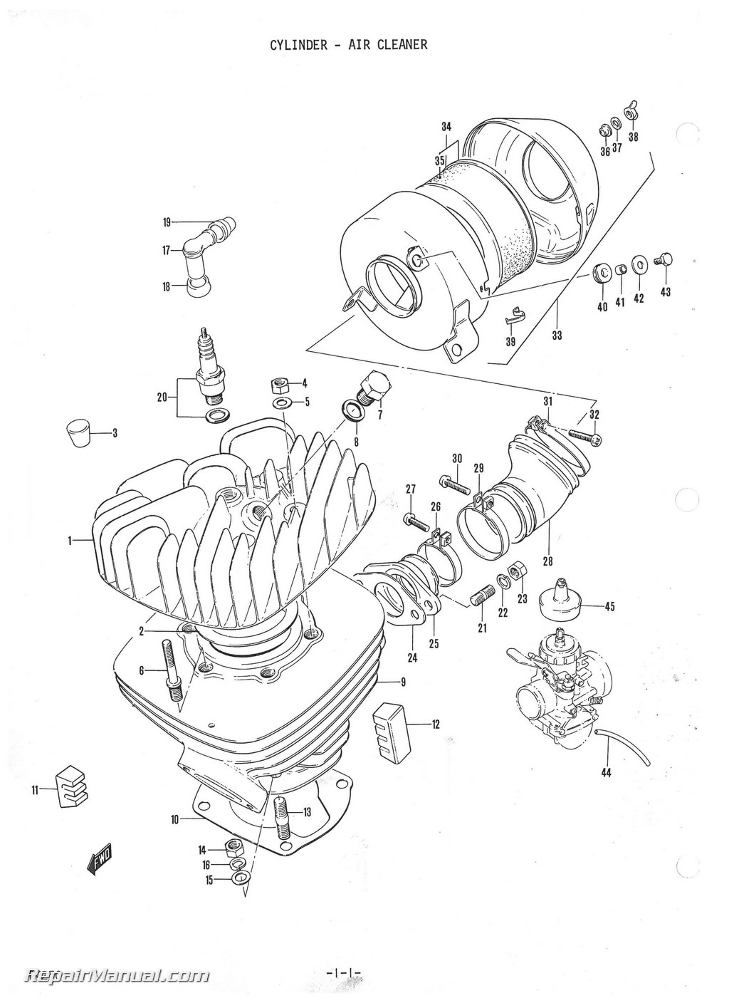 1973 Suzuki TM250 Motorcycle Parts Manual