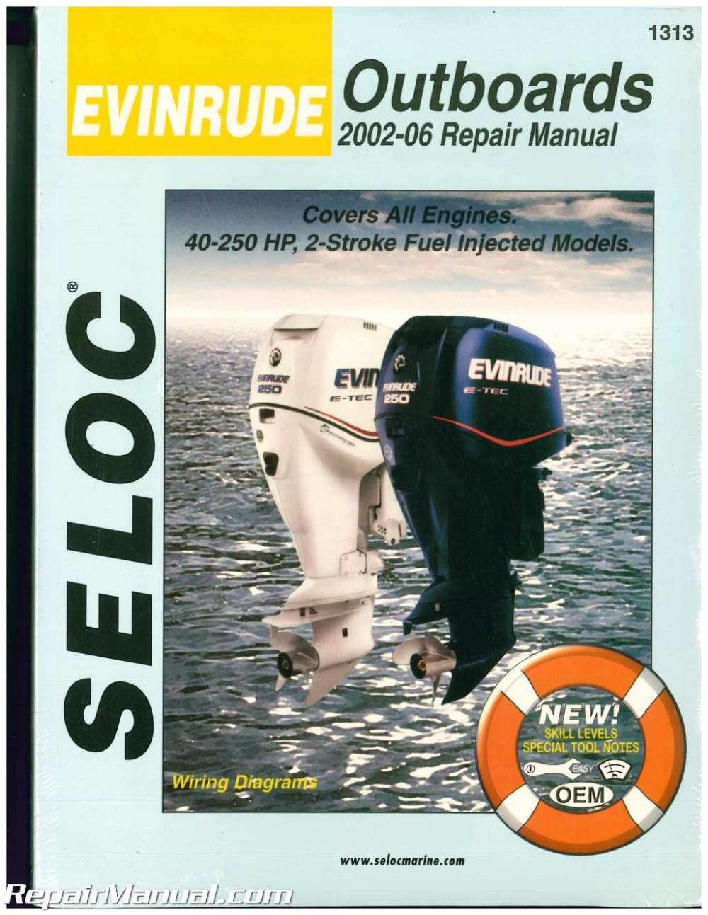 medium resolution of seloc 2002 2006 evinrude 15 300 hp