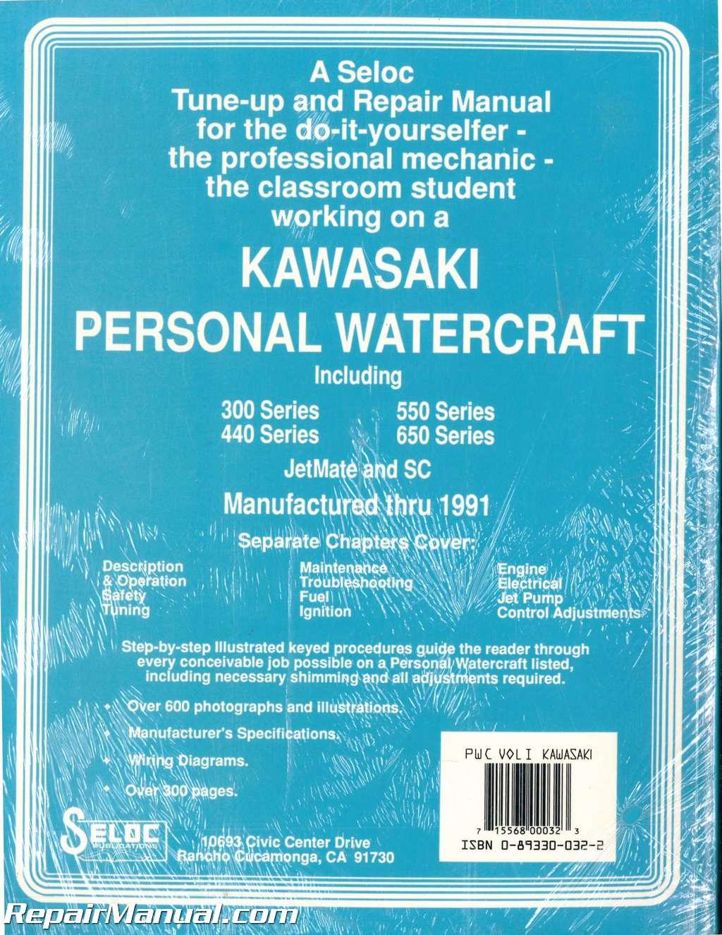 hight resolution of  array seloc kawasaki personal watercraft 1973 1991 repair manual vol l rh repairmanual com