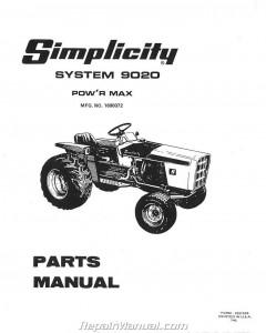 Simplicity Power Max 9020 9020 Allis Chalmers 720 Lawn