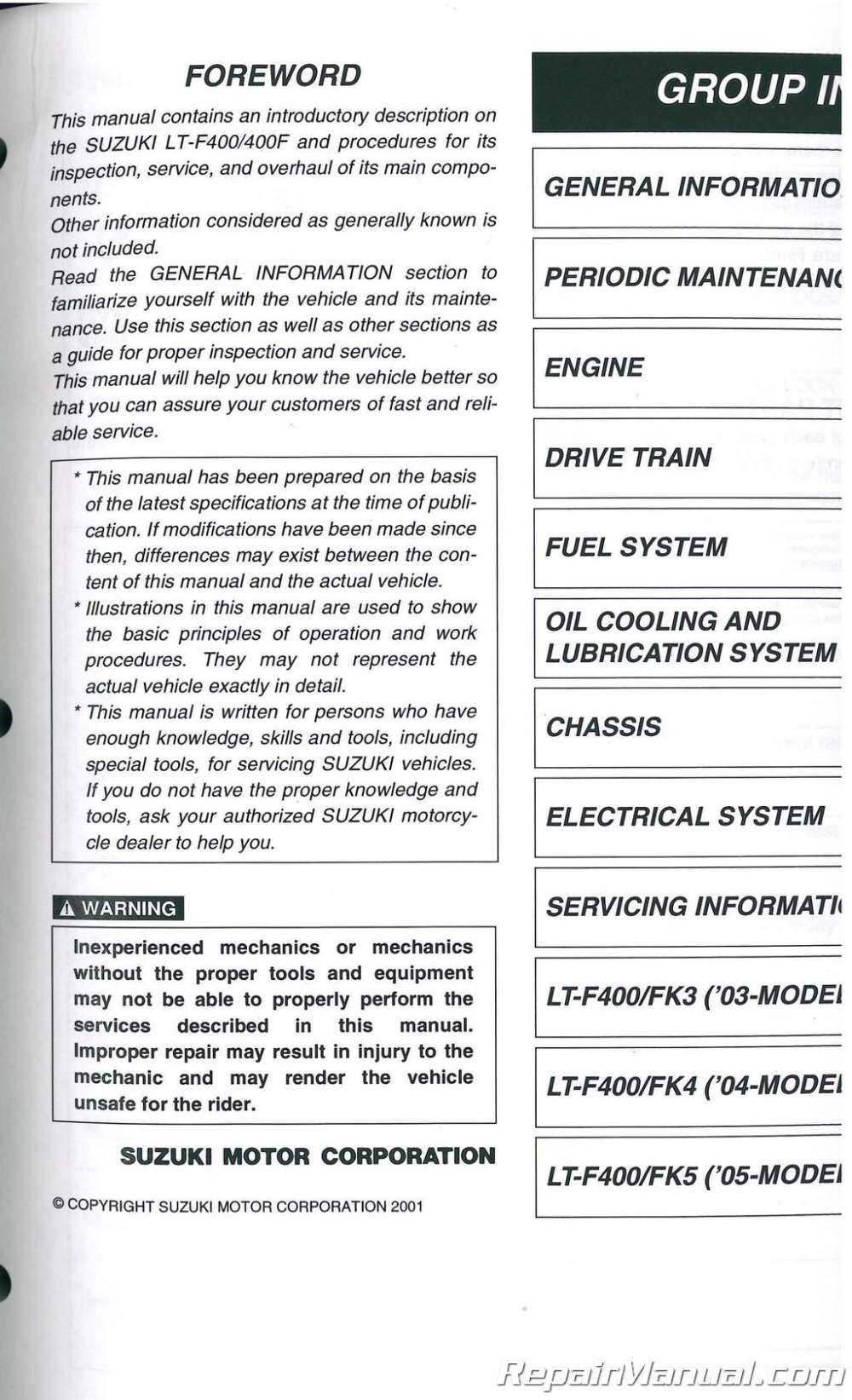 medium resolution of download 2002 2007 suzuki eiger 400 repair manual lt f400 wiring diagram best wiring library polaris