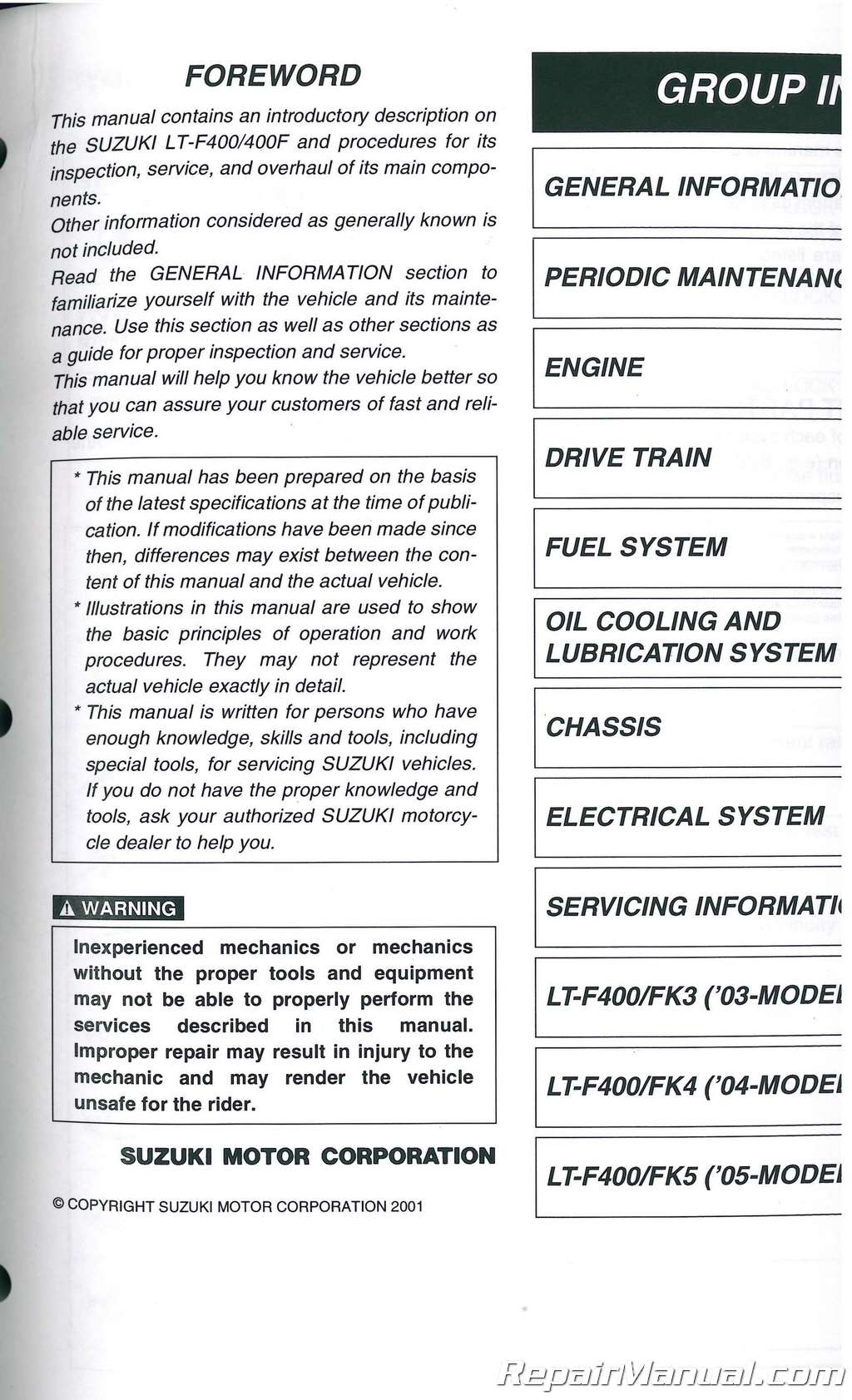 hight resolution of download 2002 2007 suzuki eiger 400 repair manual lt f400 wiring diagram best wiring library polaris