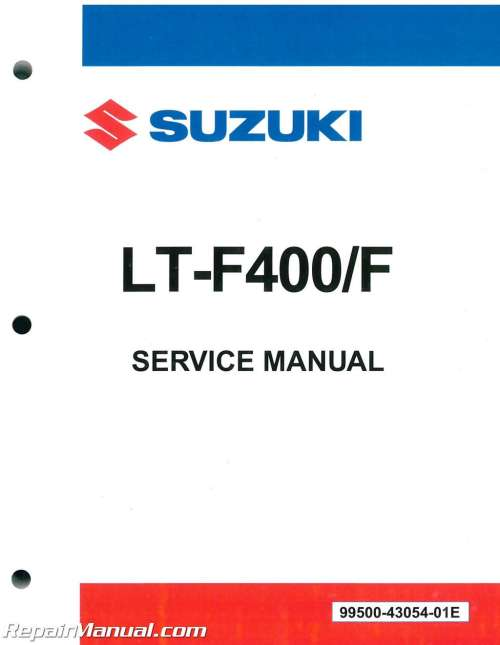 small resolution of details about suzuki eiger 400 manual lt f400 400f atv 2002 2007 service manual 99500 430