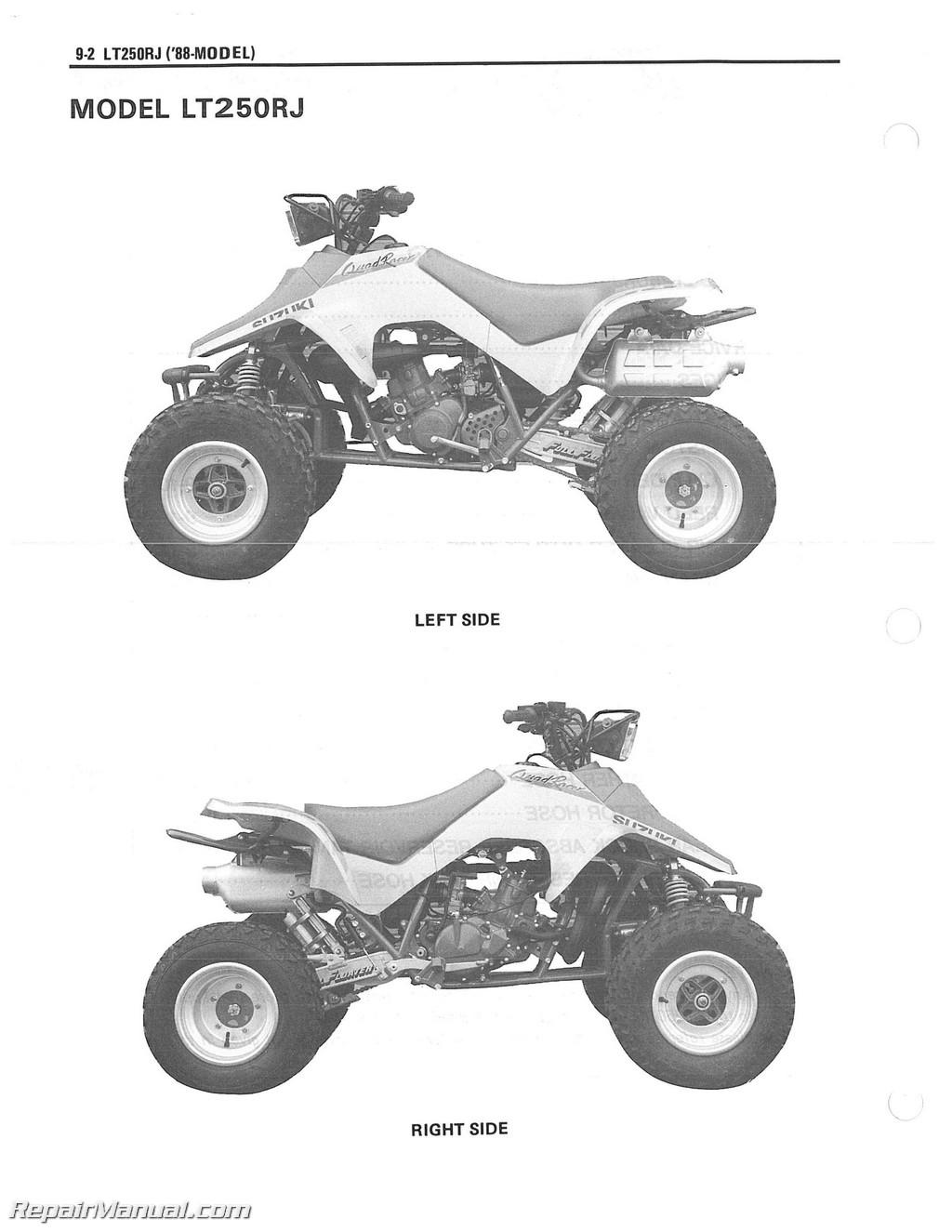 hight resolution of 87 lt250r wiring diagram wiring library mix 1987 1992 suzuki lt250r quad racer atv service manual