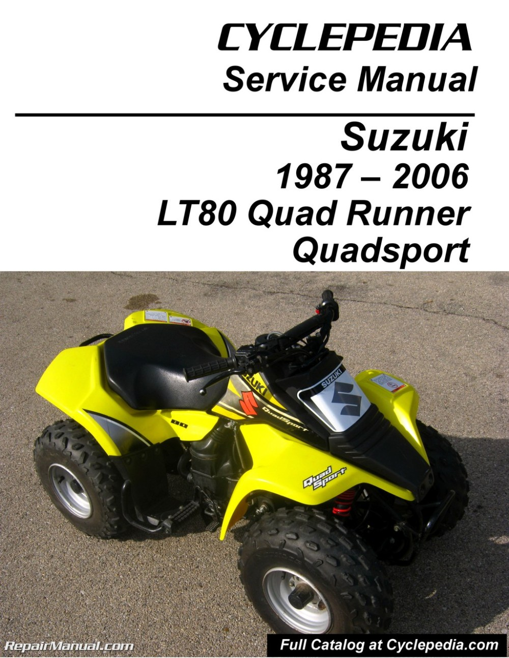 medium resolution of suzuki lt80 quadsport kawasaki kfx80 cyclepedia printed servicesuzuki lt80 quadsport