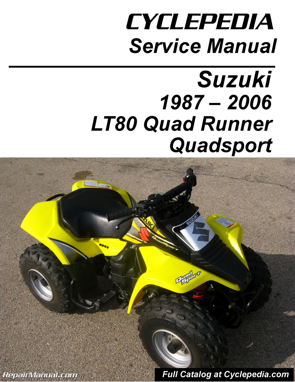 hight resolution of suzuki lt80 quadsport kawasaki kfx80 cyclepedia printed service manual rh repairmanual com kawasaki bayou 220 wiring schematic kawasaki prairie atv wiring