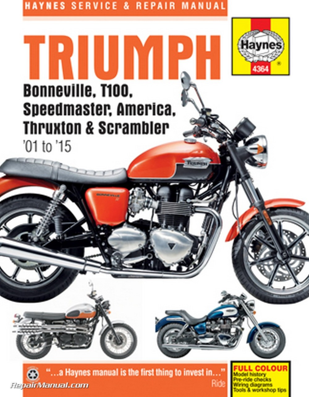 medium resolution of 2001 2015 triumph bonneville t100 speedmaster america thruxton scrambler motorcycle repair manual