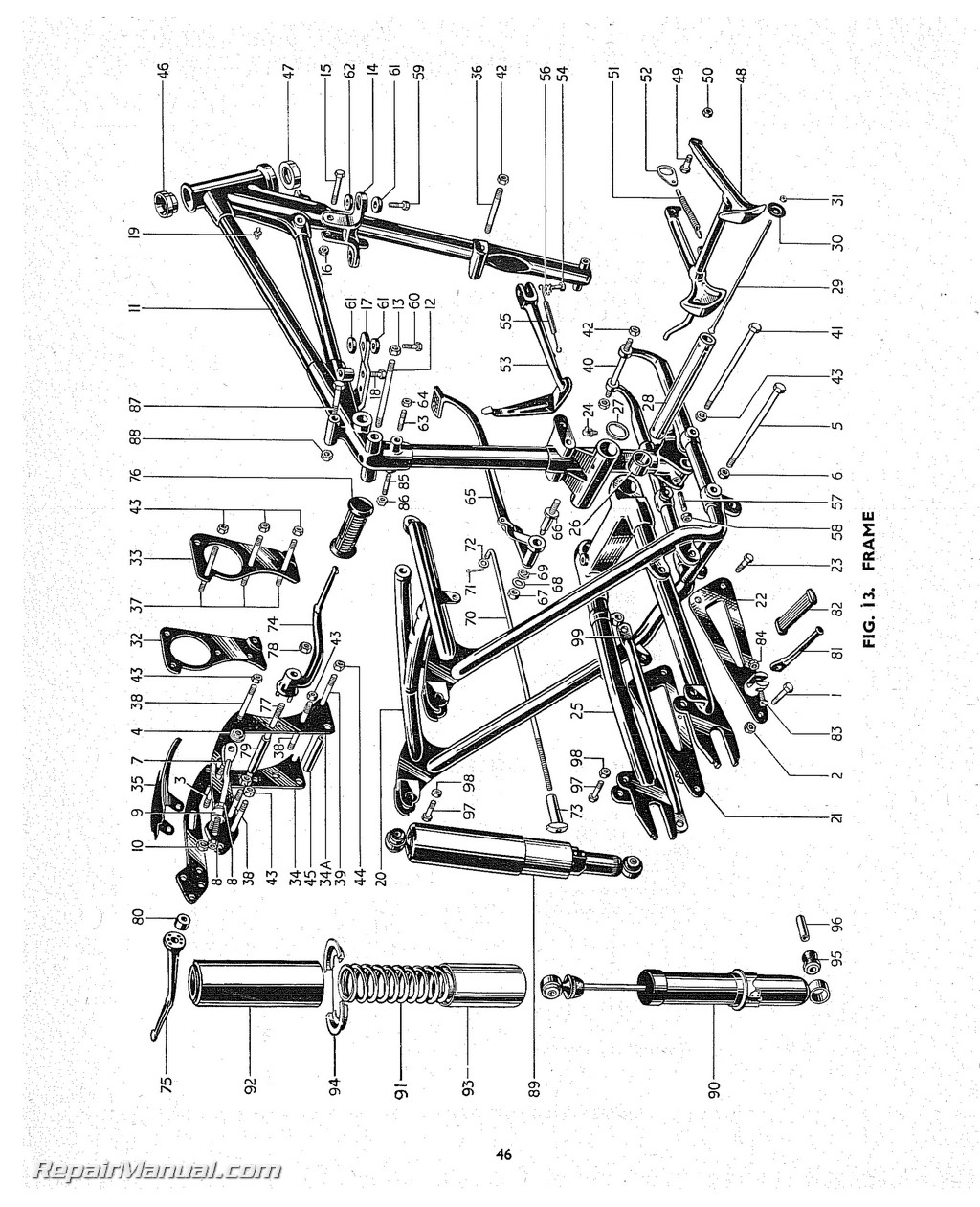 Triumph Replacement Parts Manual 1955 Speed Twin