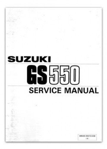 1984-1986 Suzuki GS550 Motorcycles Service Manual