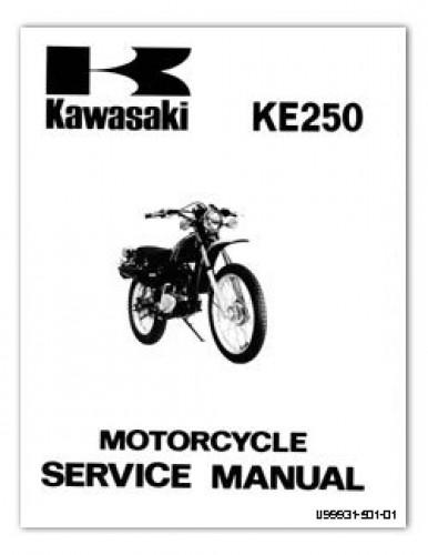 Used 1977-1979 Kawasaki KE250 Service Manual