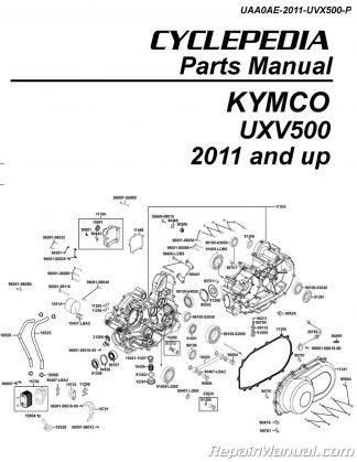 KYMCO UXV500 Parts Manual