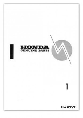 1969 Honda SL90 Motorcycle Parts List