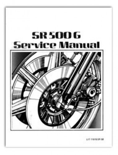 Yamaha SR500 XT500 TT500 Motorcycle Service Repair Manual