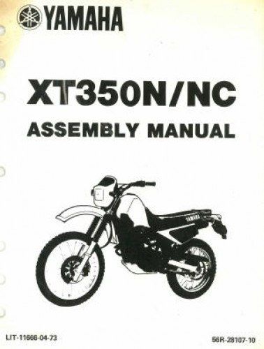 Used 1985 Yamaha XT350N NC Assembly Manual