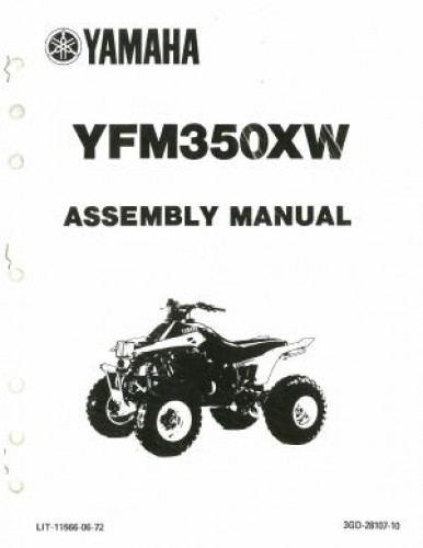 Used 1989 Yamaha YFM350XW Assembly Manual