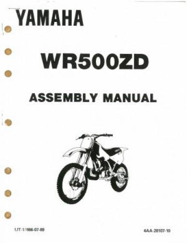Used 1992 Yamaha WR500ZD Assembly Manual
