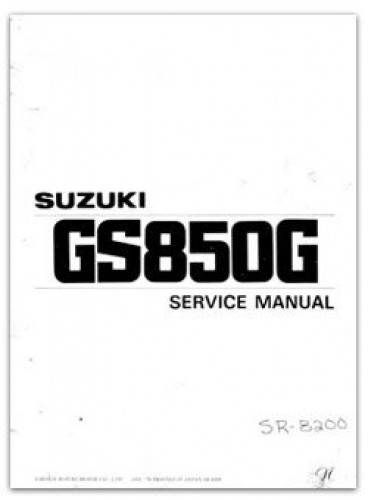 1978-1979 Suzuki GS850 Service Manual