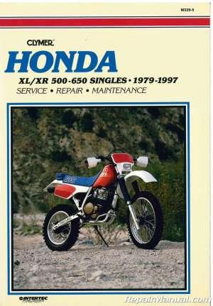 Used 19791997 XL500R XR500 XL600 XR600 Clymer Honda Motorcycle Repair Manual