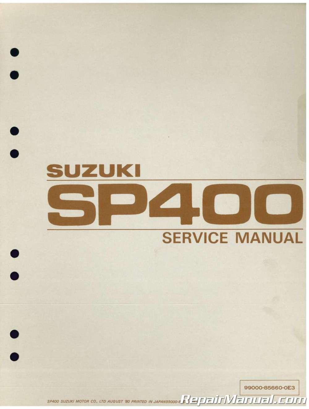 medium resolution of gn400 wiring diagram 1980 suzuki sp400 dr400 gn400 motorcycle service manual1980 suzuki sp400 dr400 gn400
